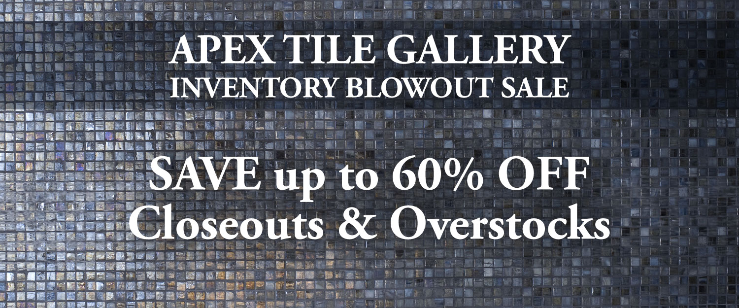 Sale on all closeout and overstock tiles